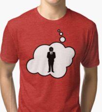 Minifig Business Man by Bubble-Tees.com Tri-blend T-Shirt