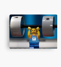 Weight Lifting Canvas Print