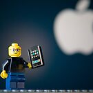 Steve Jobs and his iPhone by jarodface