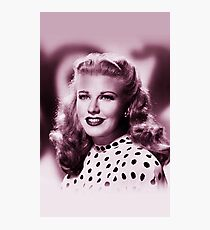 Ginger Rogers vintage color Photographic Print