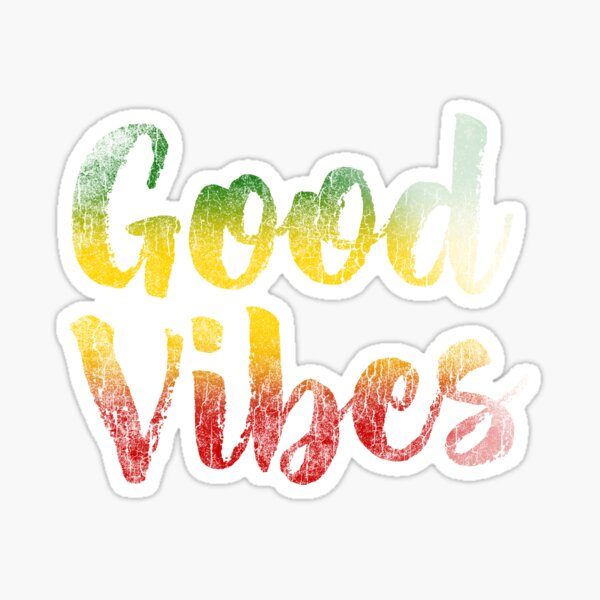 Good Vibes Distressed Sticker