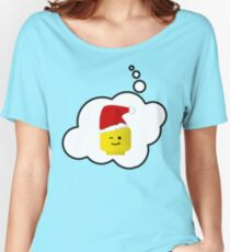 Santa Minifig Head by Bubble-Tees.com Women's Relaxed Fit T-Shirt