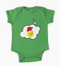 Santa Minifig Head by Bubble-Tees.com Kids Clothes
