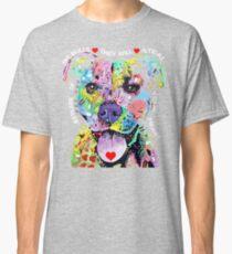 I Love My Pitbull - Colorful Pitbull T-shirts Classic T-Shirt