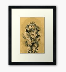 Watercolor Woman Face Framed Print