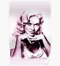 Jayne Mansfield vintage color Poster