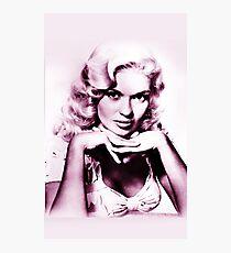 Jayne Mansfield vintage color Photographic Print