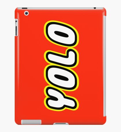 YOLO by Customize My Minifig iPad Case/Skin