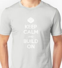 Keep Calm and Build On Unisex T-Shirt