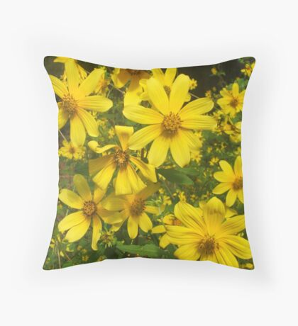 Yellow, Yellow, and More Yellow Throw Pillow