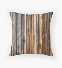 Brown wooden planks background Throw Pillow