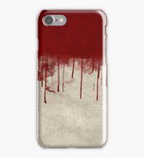 Bloody Murder Violent Blood Splatter Halloween Texture iPhone Case/Skin