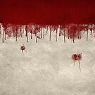 Bloody Murder Violent Blood Splatter Halloween Texture by Carl Huber