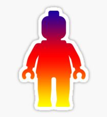 Minifig [Large Rainbow 2]  Sticker