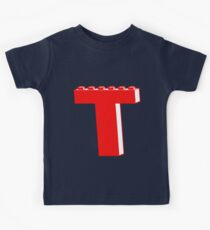 THE LETTER T by Customize My Minifig Kids Tee