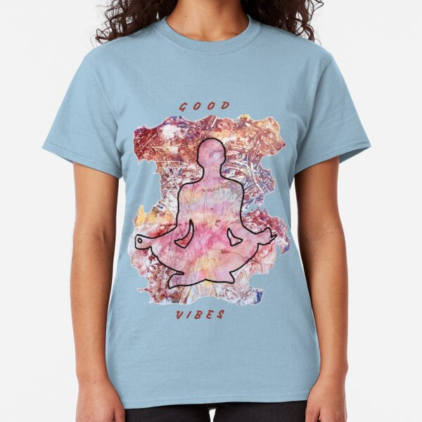 MEDITATION GOOD VIBES LOTUS POSITION Classic T-Shirt