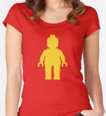 Minifig [Yellow]  Women's Fitted Scoop T-Shirt