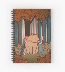 Snow White and Rose Red Spiral Notebook