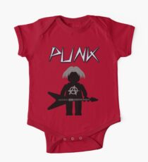 Punk Guitarist Minifig by Customize My Minifig One Piece - Short Sleeve