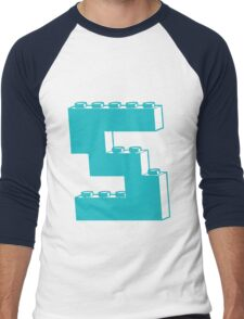 THE LETTER S by Customize My Minifig Men's Baseball ¾ T-Shirt