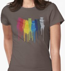 Dalek Extermination Rainbow Womens Fitted T-Shirt