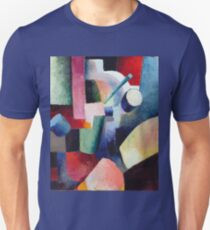 August Macke - Colored Composition Of Forms Unisex T-Shirt