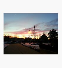Dusk in Winter Photographic Print