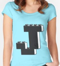 THE LETTER J  Women's Fitted Scoop T-Shirt