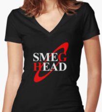 Smeg Head Women's Fitted V-Neck T-Shirt
