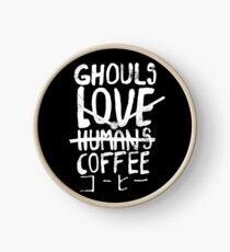 Ghouls lieben Kaffee Uhr