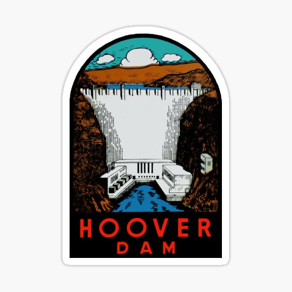 Hoover Dam Vintage Travel Decal Sticker