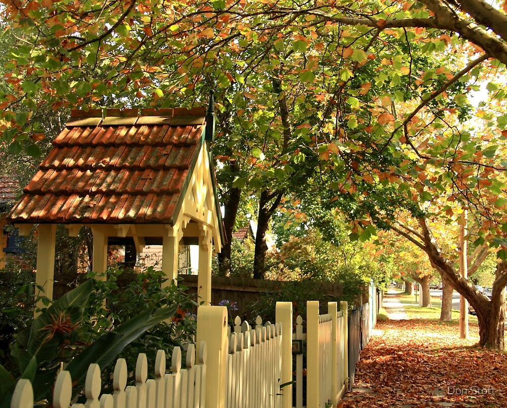Autumn Street Shade by Don Stott
