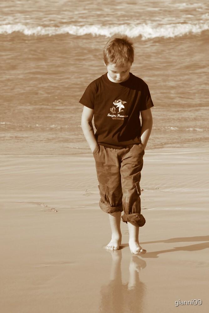 boy on beach by gianni99