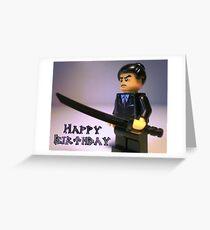 Happy Birthday Greeting Card Japanese Yakuza Gokudō Gangster Custom Minifig Greeting Card
