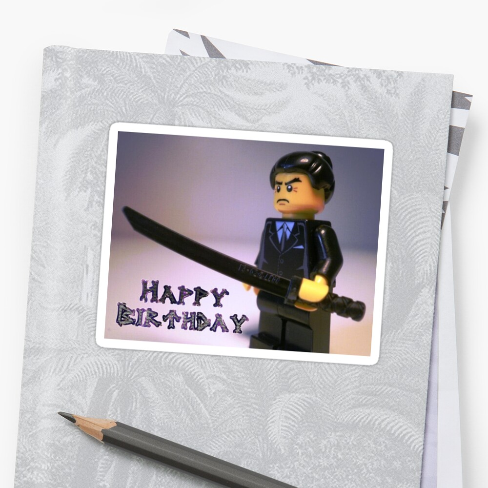 Happy Birthday Greeting Card Japanese Yakuza Gokud Gangster Custom
