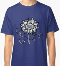 Abstract graphic flower in black and white Classic T-Shirt
