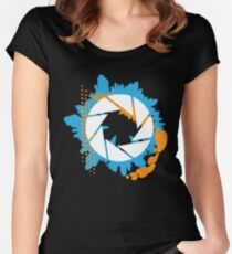 Portal - Abstract Aperture Logo Women's Fitted Scoop T-Shirt
