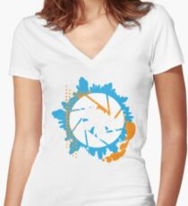 Portal - Abstract Aperture Logo Women's Fitted V-Neck T-Shirt