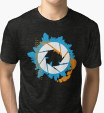 Portal - Abstract Aperture Logo Tri-blend T-Shirt