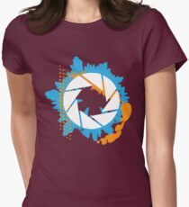 Portal - Abstract Aperture Logo Womens Fitted T-Shirt