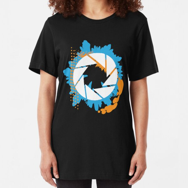Portal - Abstract Aperture Logo Slim Fit T-Shirt