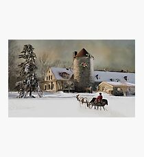 One horse Open Sleigh Photographic Print