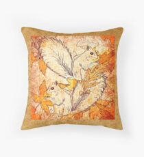 Squirrels in Fall Throw Pillow