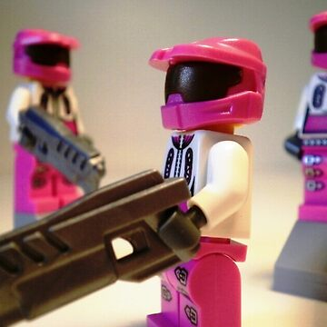 Halo Wars Pink Spartan Soldier, Custom Minifigure by Chillee