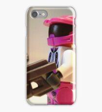 Halo Wars Pink Spartan Soldier, Custom Minifigure iPhone Case/Skin