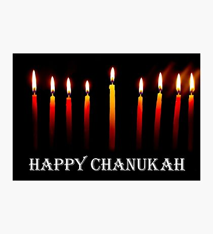 HAPPY CHANUKAH CARD Photographic Print