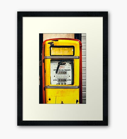 Old Italian Gas pump Framed Print