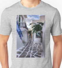 Residential Streets of Mykonos Unisex T-Shirt