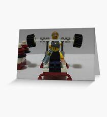 Lego Gym Greeting Card