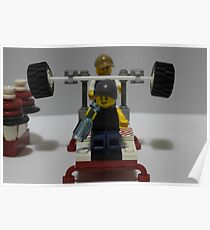 Lego Gym Poster